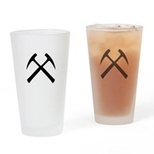 Crossed Rock Hammers Pint Glass