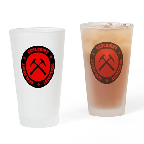Geologist (red) Pint Glass