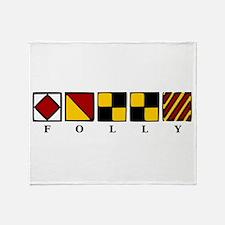 Folly Beach Throw Blanket