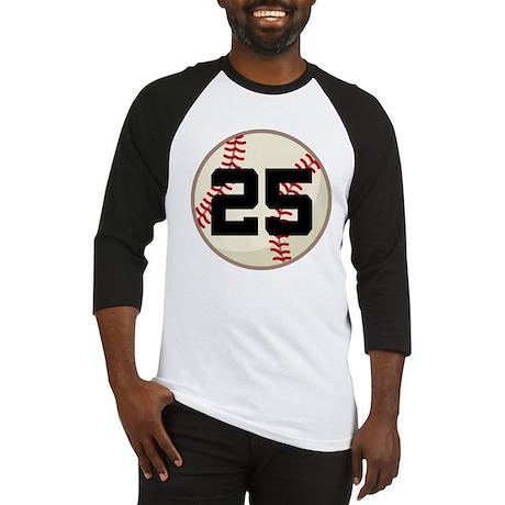 Baseball Player Number 25 Team Baseball Jersey