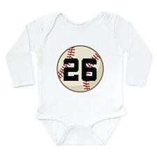 Baseball Player Number 26 Team Long Sleeve Infant