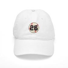 Baseball Player Number 26 Team Baseball Cap