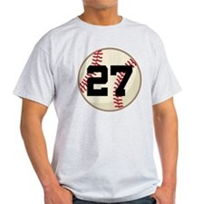 Baseball Player Number 27 Team T-Shirt
