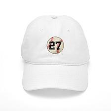 Baseball Player Number 27 Team Baseball Cap