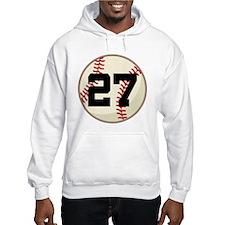 Baseball Player Number 27 Team Hoodie