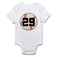Baseball Player Number 29 Team Infant Bodysuit