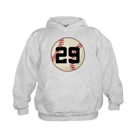 Baseball Player Number 29 Team Kids Hoodie