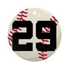 Baseball Player Number 29 Team Ornament (Round)