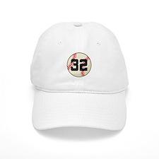 Baseball Player Number 32 Team Baseball Cap
