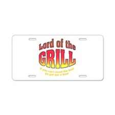 Lord of the Grill Aluminum License Plate