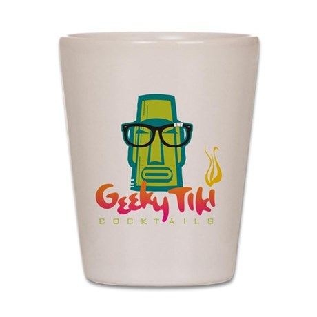 """Geeky Tiki"" Shot Glass"
