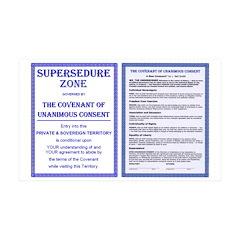 Supersedure & Covenant 38.5 x 24.5 Wall Peel