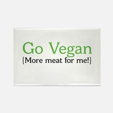 Go Vegan Rectangle Magnet