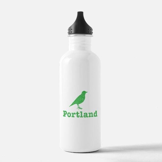 Vintage Green Portland Bird Water Bottle