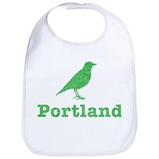 Vintage Green Portland Bird Bib