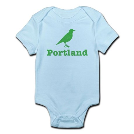 Vintage Green Portland Bird Infant Bodysuit