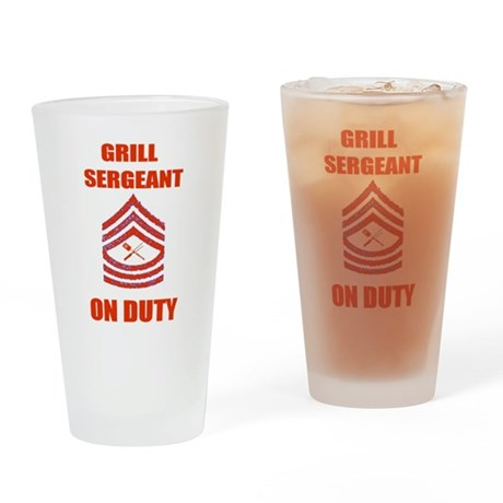 bbq grill sergeant Pint Glass