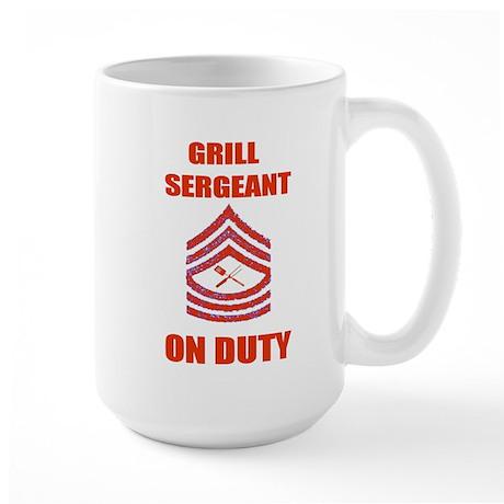 bbq grill sergeant Large Mug
