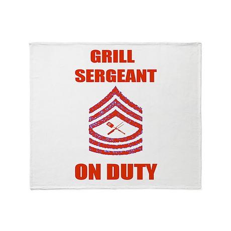 bbq grill sergeant Throw Blanket