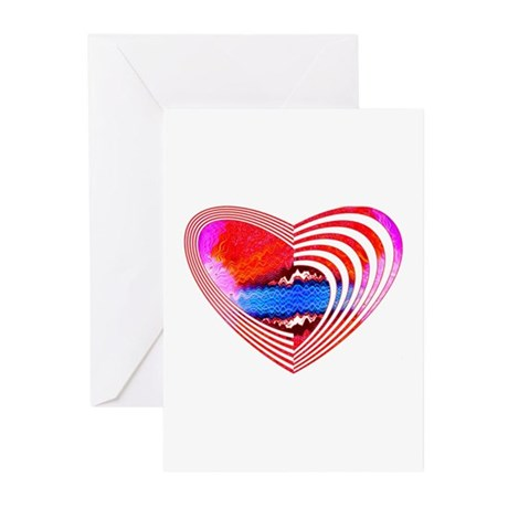 Heart Lines Greeting Cards (Pk of 10)