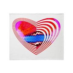 Heart Lines Throw Blanket