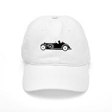 Racing Car and Roses Baseball Cap