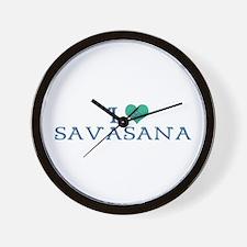 I love savasana Wall Clock