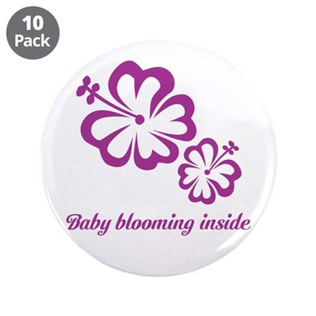 "Baby blooming inside 3.5"" Button (10 pack)"