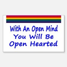 Open Mind Open Hearted Sticker (Rectangle)