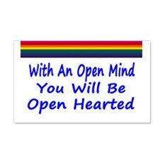 Open Mind Open Hearted 22x14 Wall Peel