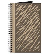 Vanilla Brush Grunge Stripes Journal