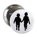 "Two Kids in Silhouette 2.25"" Button (100 Pk)"