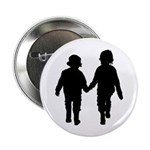"Two Kids in Silhouette 2.25"" Button (10 Pk)"