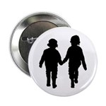 """Two Kids in Silhouette 2.25"""" Button"""