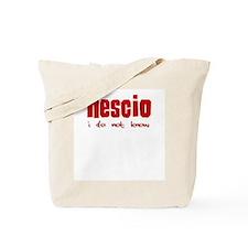 Arnold Geulincx Nescio Tote Bag