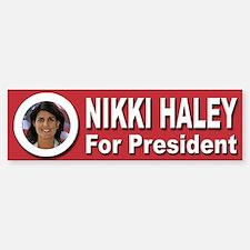Nikki Haley for President Sticker (Bumper)