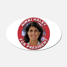 Nikki Haley for President 22x14 Oval Wall Peel