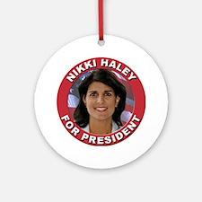 Nikki Haley for President Ornament (Round)