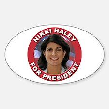 Nikki Haley for President Sticker (Oval)