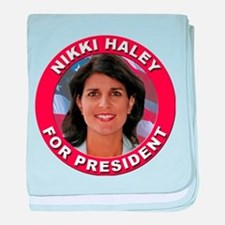 Nikki Haley for President baby blanket