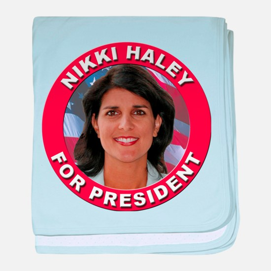 Nikki Haley for President baby blanket