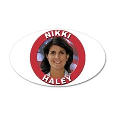 Nikki Haley 22x14 Oval Wall Peel
