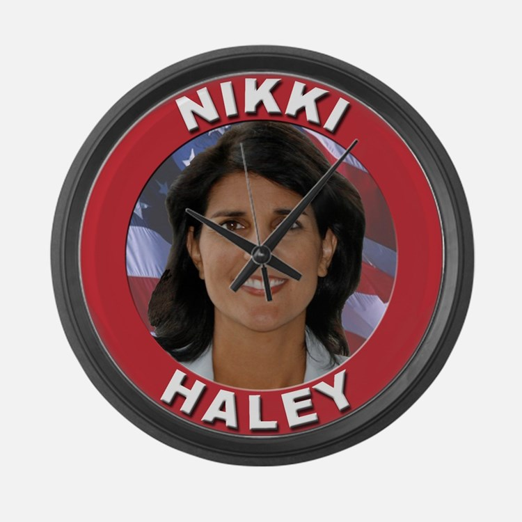 Nikki Haley Large Wall Clock