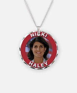Nikki Haley Necklace Circle Charm