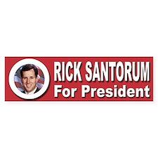 Rick Santorum for President Bumper Sticker