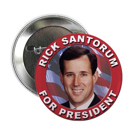 """Rick Santorum for President 2.25"""" Button"""