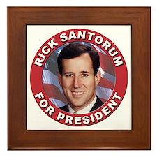 Rick Santorum for President Framed Tile