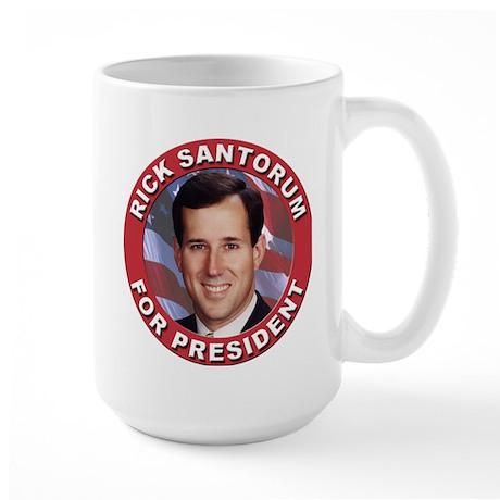 Rick Santorum for President Large Mug