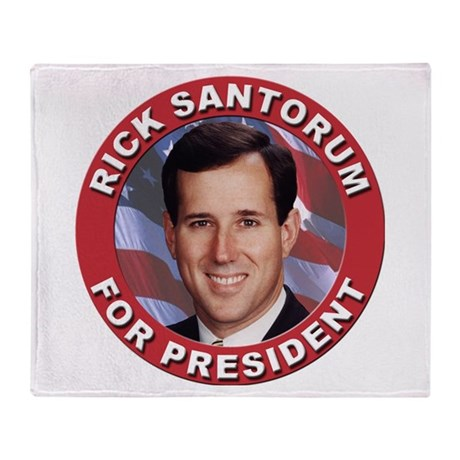 Rick Santorum for President Throw Blanket