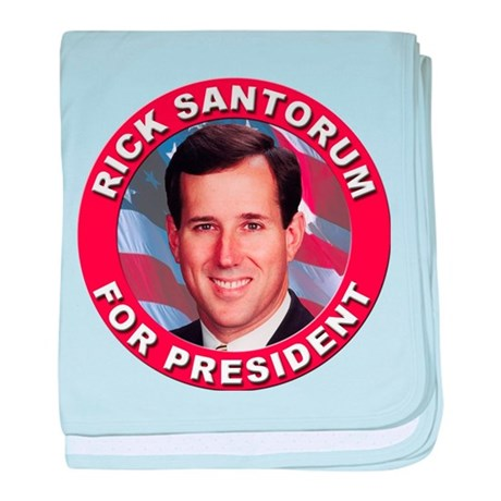 Rick Santorum for President baby blanket